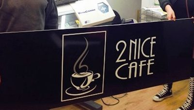 2 Nice Cafe Sign Board